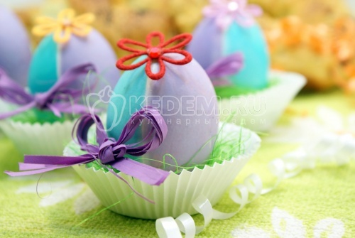 Пасхальные яйца «Цветочки» - рецепт