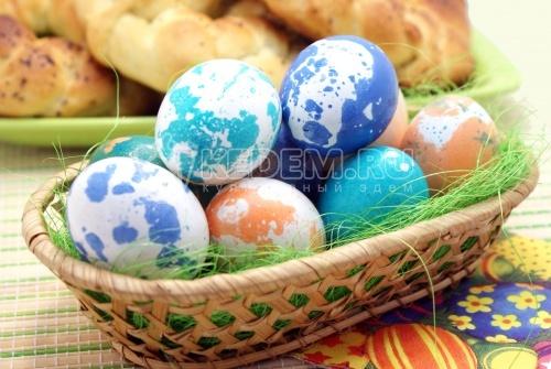 Пасхальные яйца «динозавриков» - рецепт
