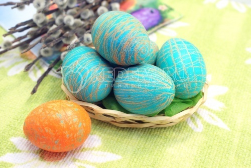 Пасхальные яйца «Карандашные» - рецепт