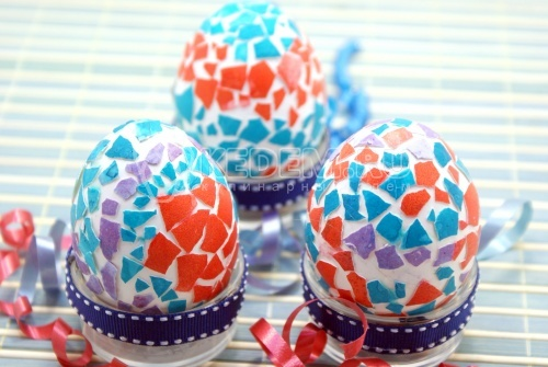 Пасхальные яйца «Мозаика» - рецепт