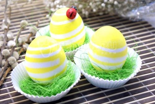 Пасхальные яйца «Полосатики» - рецепт