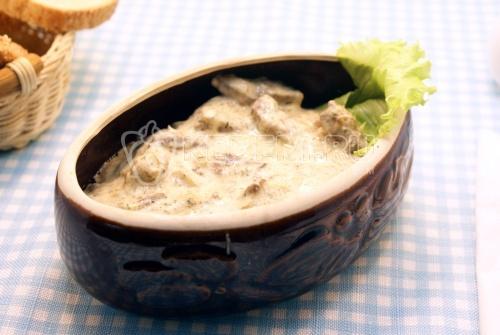Печень по-строгановски - рецепт