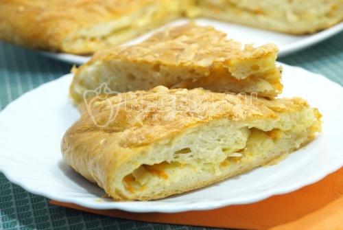 Пирог с капустой в духовке - рецепт