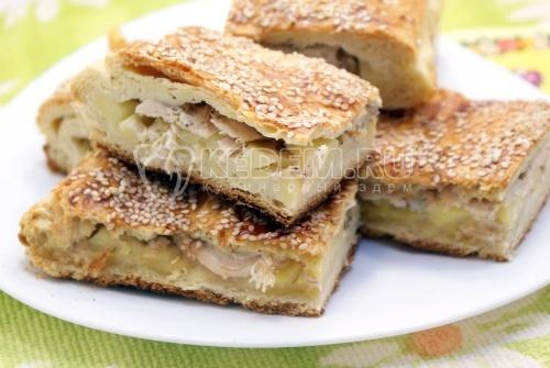 Пирог с курицей и картофелем - рецепт