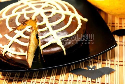 Пирог с тыквой Хэллоуин