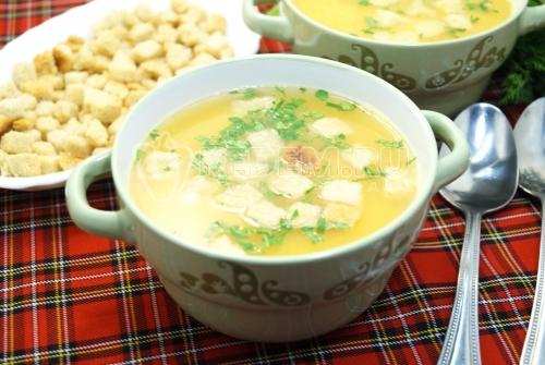 Постный гороховый суп-пюре - рецепт