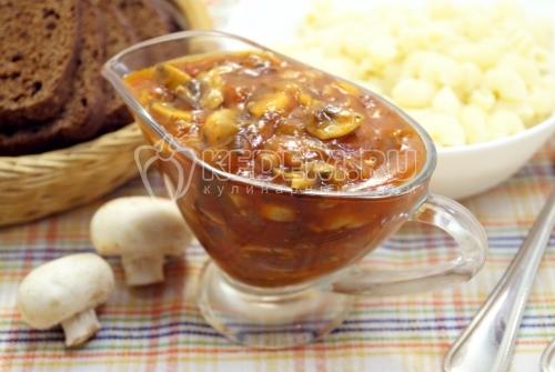Постный грибной соус