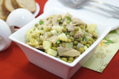 Постный салат с шампиньонами