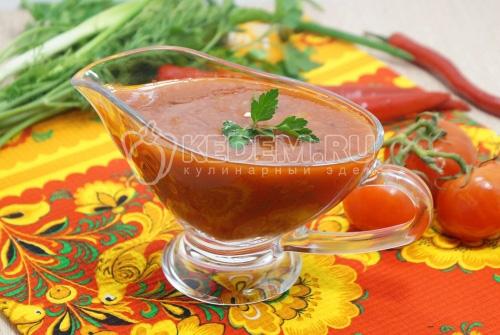 Постный соус из томатной пасты - рецепт