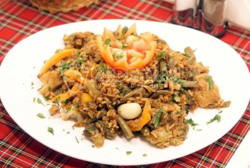 Рис с овощами и соевым соусом - рецепт