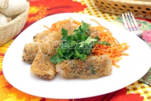 Рисовые блинчики с грибами - рецепт