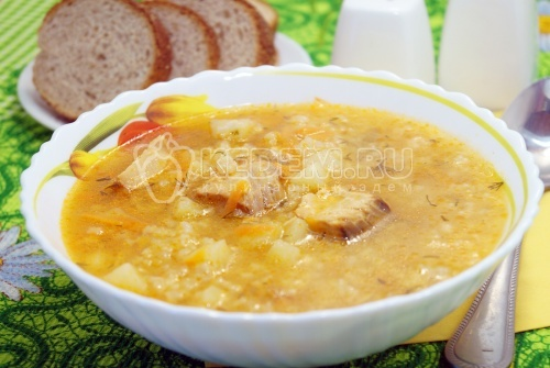 Рыбный суп из консервы горбуши - рецепт