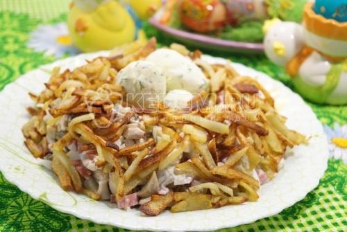Салат «Гнездо» - рецепт