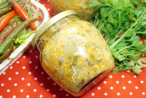 Салат из баклажанов на зиму с прованскими травами