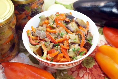 Салат из баклажанов на зиму Восторг