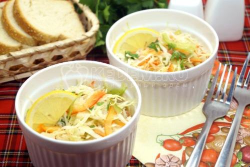 Салат из белокочанной капусты Лили
