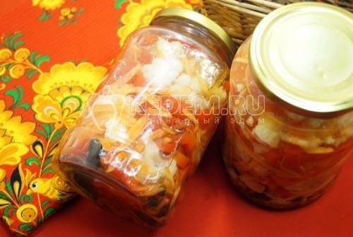Салат из цветной капусты на зиму в банках - рецепт
