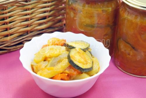 Салат из кабачков «Лето»