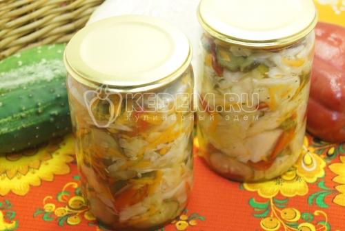 Салат из капусты на зиму - рецепт