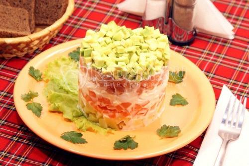 Салат из сёмги слабосолёной