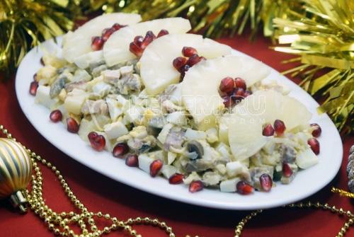 Салат Новогодние каникулы