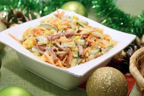 Салат Новогодний серпантин