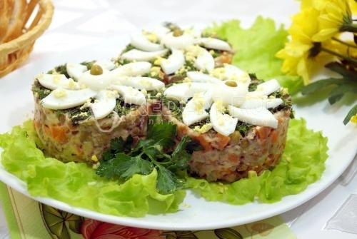 Салат Ромашки