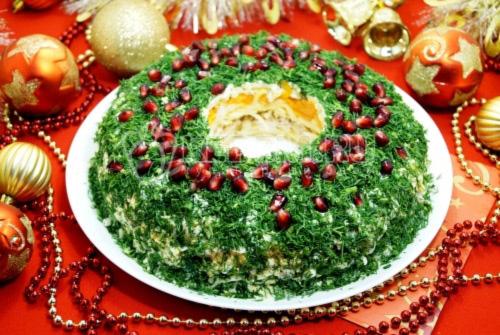 Салат «Рождественский венок» - рецепт