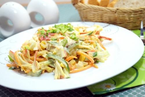 Салат с крабовыми палочками Палочка-выручалочка