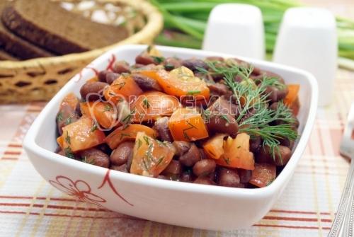 Салат с красной фасолью - рецепт