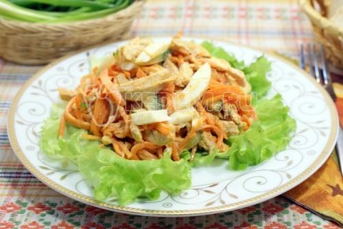 Салат с куриным филе и морковью по-корейски - рецепт