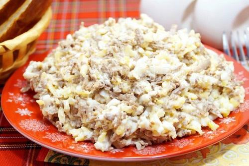 Салат с печенью говяжьей