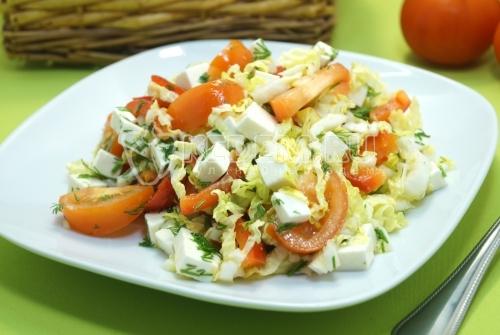 Салат с пекинской капустой и сыром «Ява»