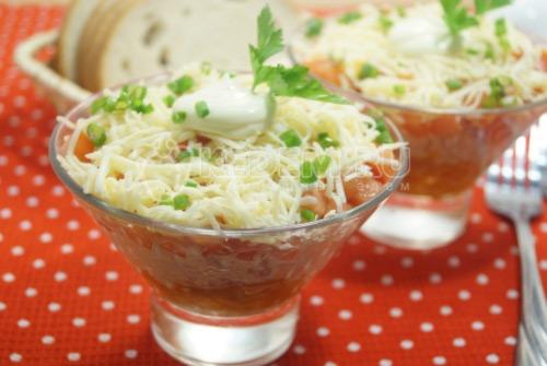 Салат с помидорами Ассоль