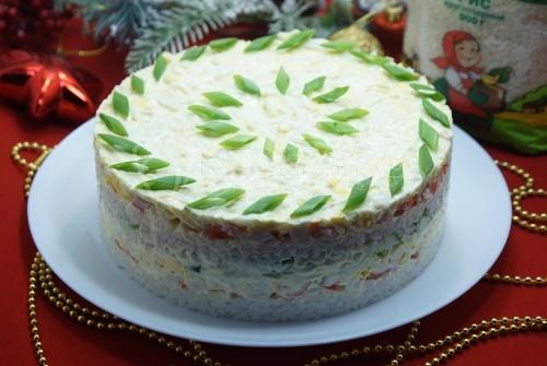 Салат с рисом Праздничный