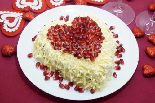 Салат Влюбленный Валентин