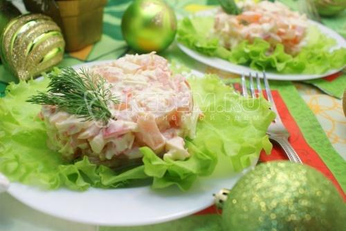 салат крабовое мясо и помидоры рецепт