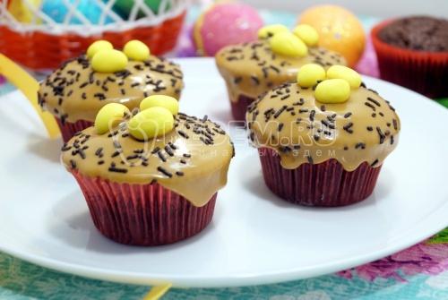 Шоколадные кексы на Пасху