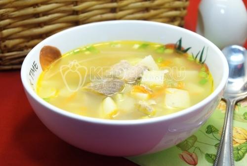 Суп из консервированной горбуши