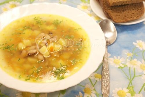 Суп с фасолью - рецепт