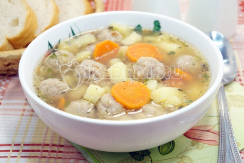 Суп с тефтелями