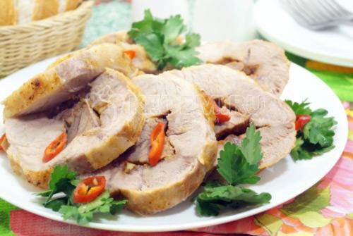 Свинина в рукаве в духовке