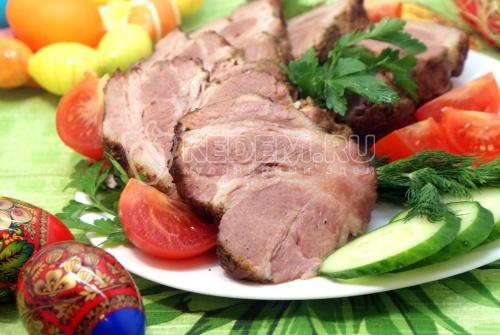 Свинина запеченная с чесноком и розмарином - рецепт