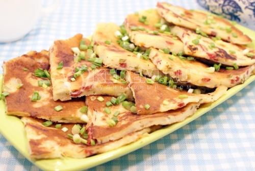 Сырные лепешки с начинкой - рецепт