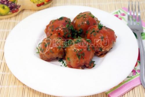 Тефтели из гречки с грибами - рецепт