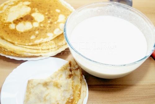 Тесто для блинов на молоке - рецепт