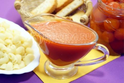 Томатный соус из маринованных помидоров