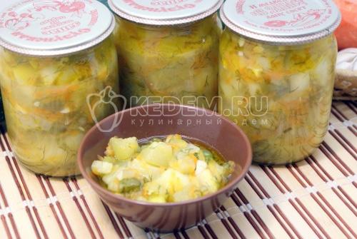 Тушеные кабачки с овощами на зиму