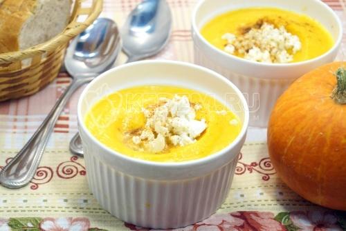 Тыквенный суп-пюре с сыром  - рецепт