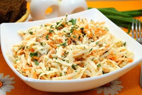 Вкусный салат из редьки с морковью